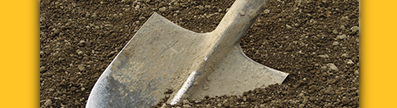 Shovel in dirt