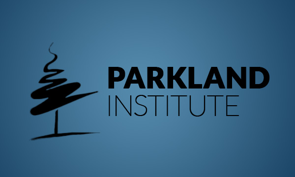 Dark Parkland Institute logo on blue background