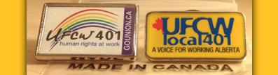 UFCW 401 pins