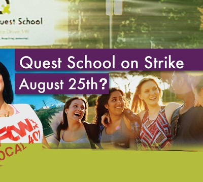 Calgary Quest School on strike?