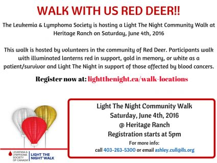 Red Deer Light the Night 2016