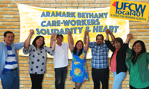 Bethany/Aramark Workers get a new contract
