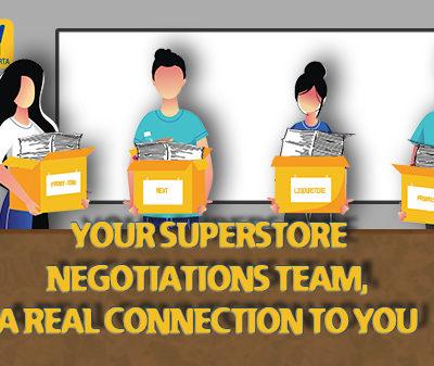 Superstore Members Negotiating Team Ready to Negotiate