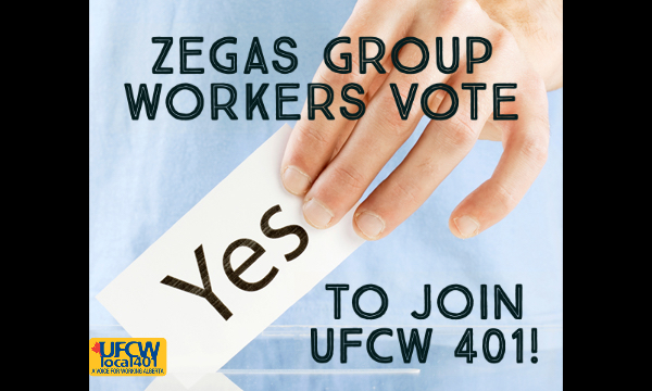 Zegas Group Workers Go Union