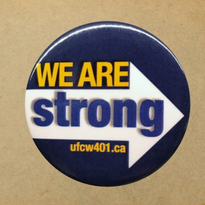 We are strong button