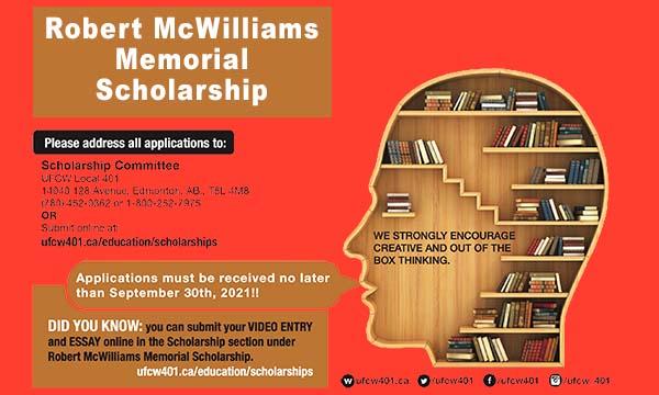 Robert McWilliams Memorial Scholarship 2021