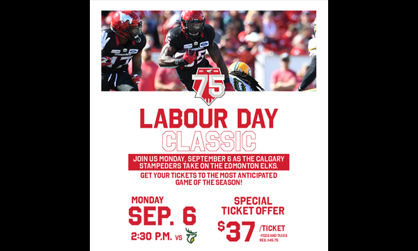 Special offer for all UFCW members for Alberta's Labour Day Classic